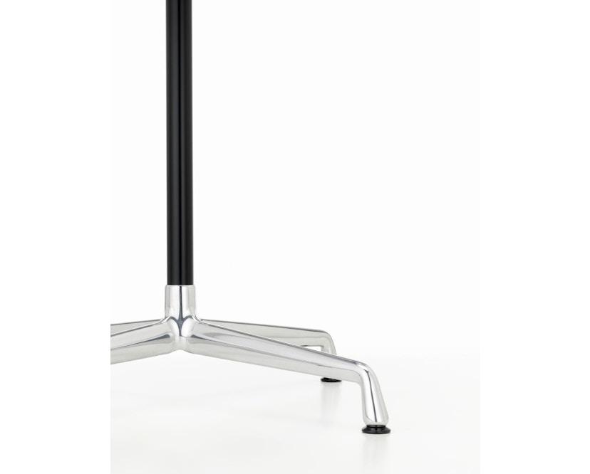 Vitra - Eames Contract Table quadratisch 75x75cm, Melamin weiß, Ausleger poliert, Standrohr pulverbeschichtet basic dark - Melamin weiß - 2