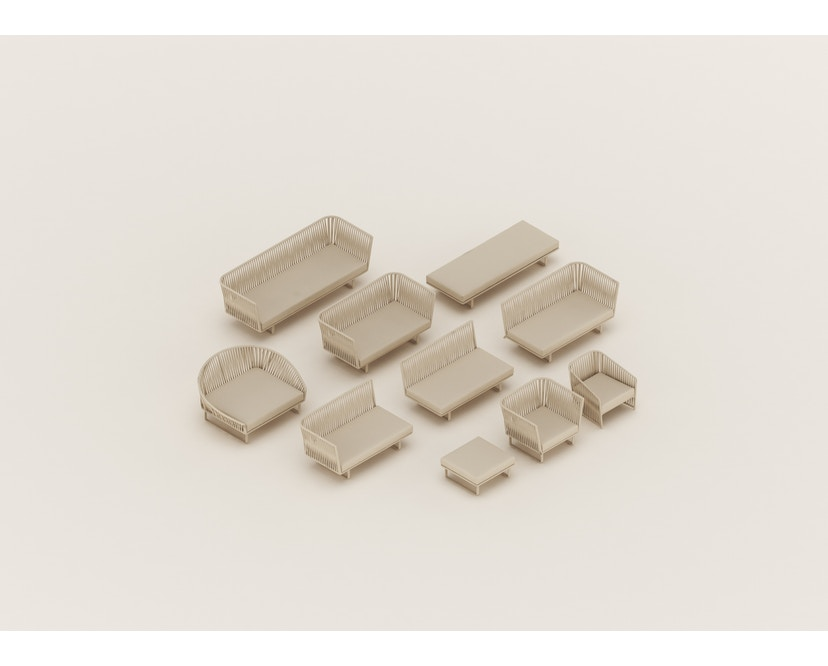 Kettal - Bitta Loungesessel - manganese/ honeysuckle/ dry sand - 3