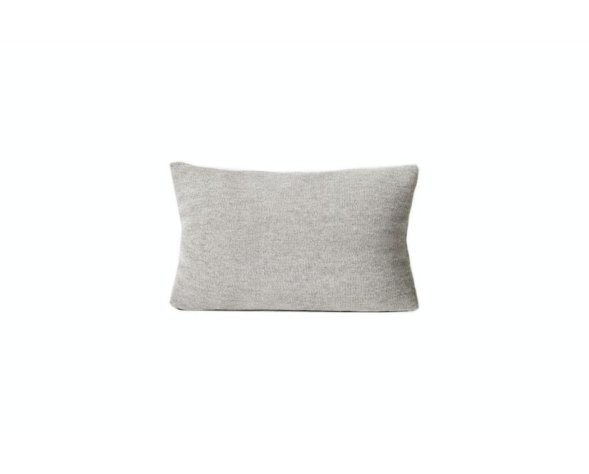 Form&Refine - Aymara Kissen, einfarbig Grau, 62 x 42 cm  - 1