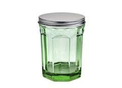 Glas mit Deckel