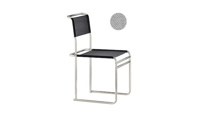 Tecta - B40 Bauhaus-Stuhl - mit PTFE-Kufengleiter - Stoff - grau - 1