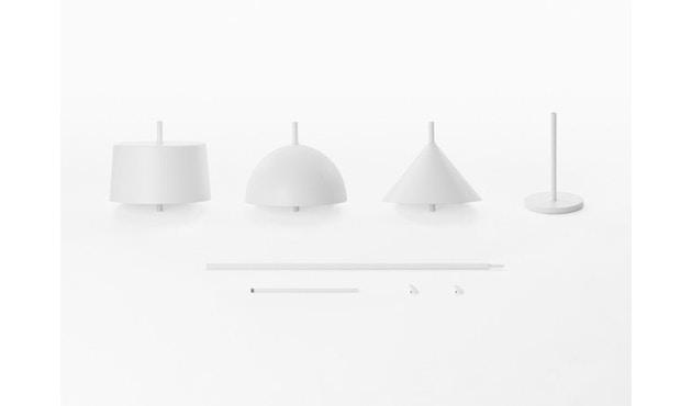 Wästberg - Nendo w132 tafellamp - cilinder - wit - 5