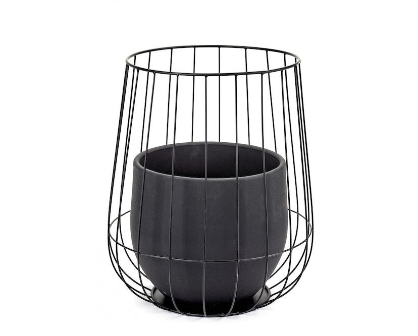 Serax - Pot in Cage Blumentopf - schwarz - 1