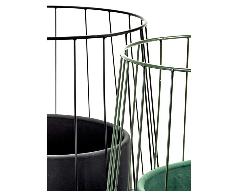 Serax - Pot in Cage Blumentopf - army - 2