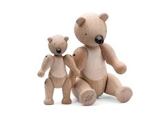 Figurine en bois en forme d'ours