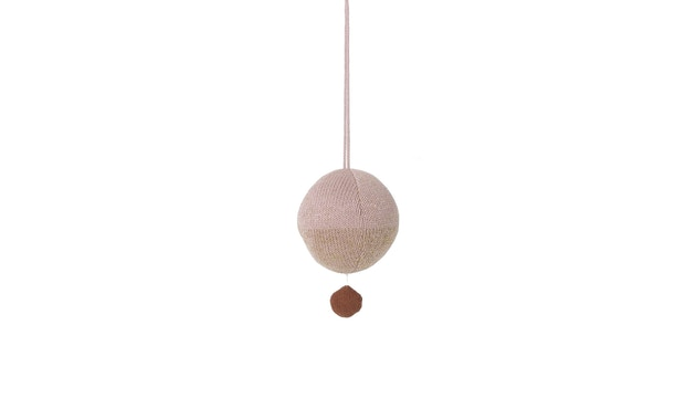 ferm LIVING - Ball knitted Spieluhr - rosé - 3