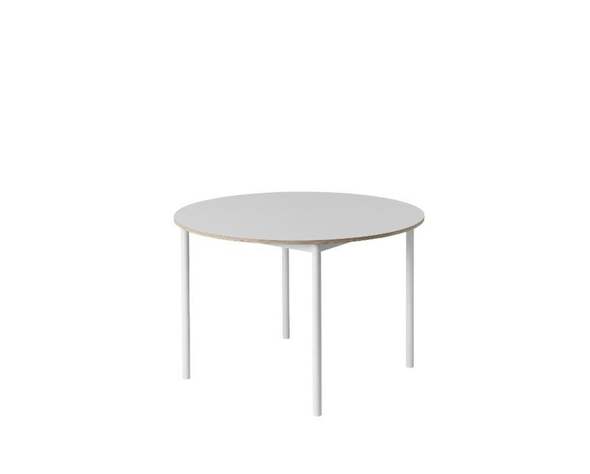Muuto - Base Tisch rund - weiß/ weiß Laminate/ Plywood - 2
