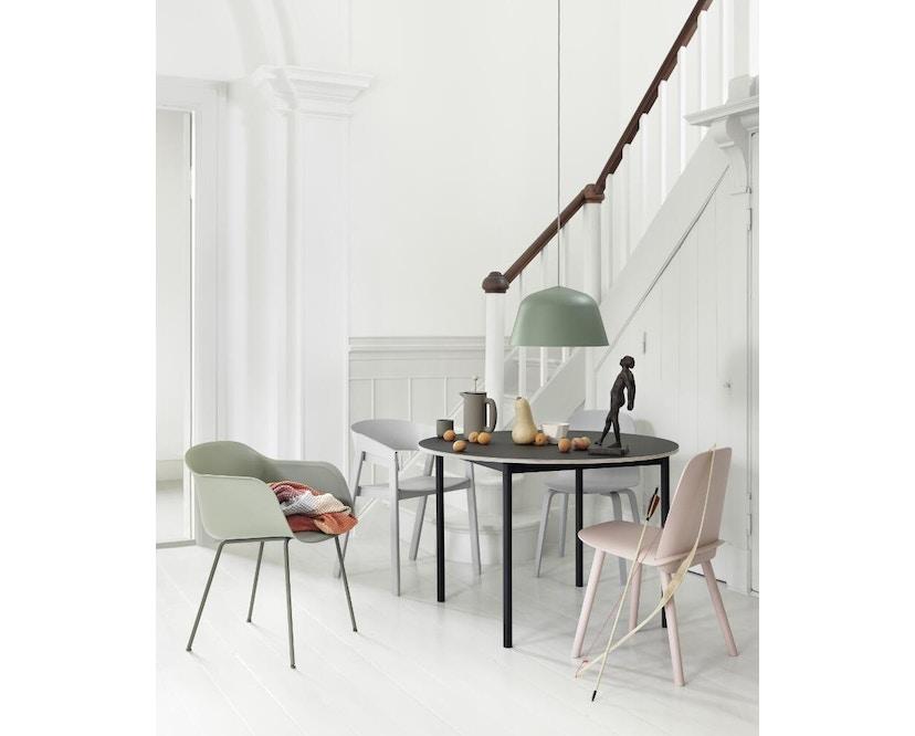 Muuto - Base Tisch rund - weiß/ weiß Laminate/ Plywood - 4