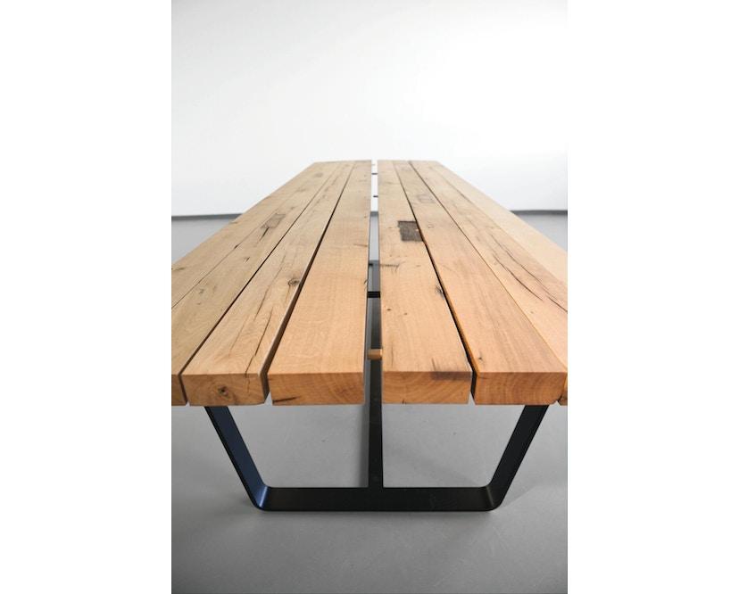 Janua - BB 11 tafel Clamp - 95 cm - gepoedercoat zwart - Eiken wit gepigmenteerd - 180 cm - 6