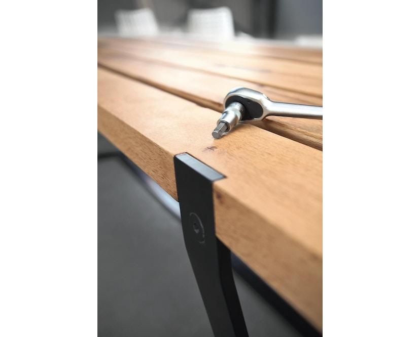 Janua - BB 11 tafel Clamp - gepoedercoat zwart - Eiken natuur geolied - 180 cm - 95 cm - 5