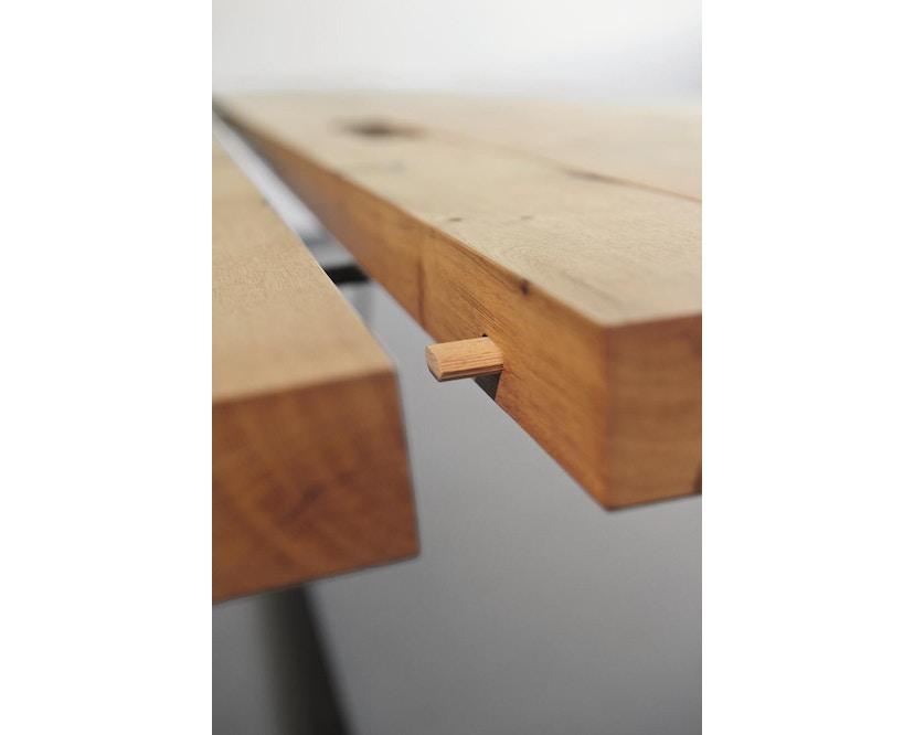 Janua - BB 11 tafel Clamp - gepoedercoat zwart - Eiken natuur geolied - 180 cm - 95 cm - 6
