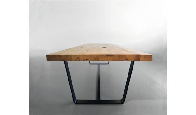 Janua - BB 11 tafel Clamp - gepoedercoat zwart - Eiken natuur geolied - 180 cm - 95 cm - 4
