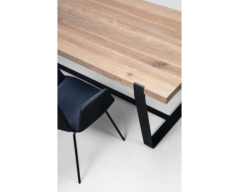 Janua - BB 11 tafel Clamp - 95 cm - gepoedercoat zwart - Eiken wit gepigmenteerd - 180 cm - 2