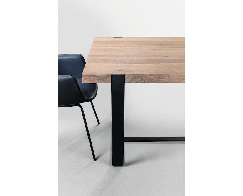 Janua - BB 11 tafel Clamp - 95 cm - gepoedercoat zwart - Eiken wit gepigmenteerd - 180 cm - 3