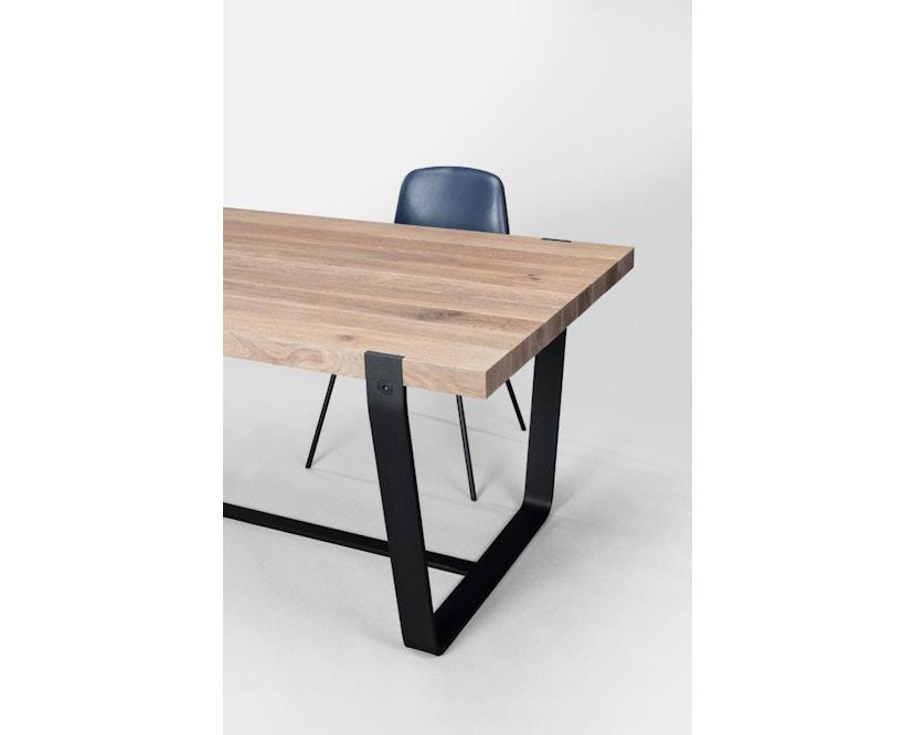 Janua - BB 11 tafel Clamp - 95 cm - gepoedercoat zwart - Eiken wit gepigmenteerd - 180 cm - 4