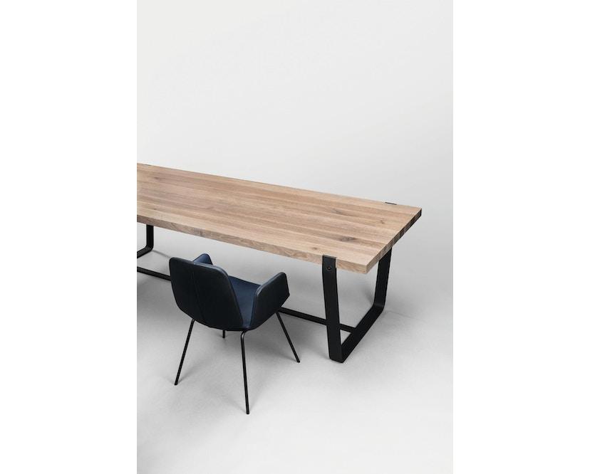 Janua - BB 11 tafel Clamp - 95 cm - gepoedercoat zwart - Eiken wit gepigmenteerd - 180 cm - 5