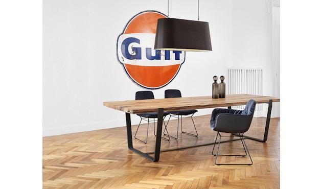Janua - BB 11 tafel Clamp - gepoedercoat zwart - Eiken natuur geolied - 180 cm - 95 cm - 2