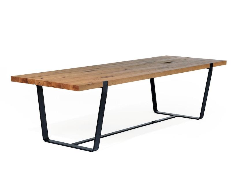 Janua - BB 11 tafel Clamp - gepoedercoat zwart - Eiken natuur geolied - 180 cm - 95 cm - 1