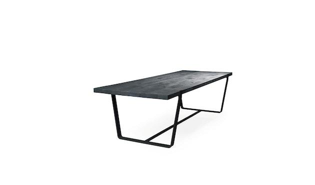 Janua - BB 11 Clamp Tisch - Stefan Knopp - Eiche geköhlt (Ton schwarz) - Gestell Tiefschwarz - 180x95 - 1