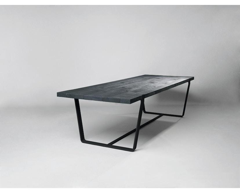 Janua - BB 11 Clamp Tisch - Stefan Knopp - Eiche geköhlt (Ton schwarz) - Gestell Tiefschwarz - 180x95 - 3
