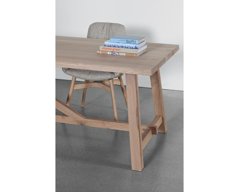 Janua - BC 02 tafel - 180 cm - 90 cm - Eiken wit gepigmenteerd - 4