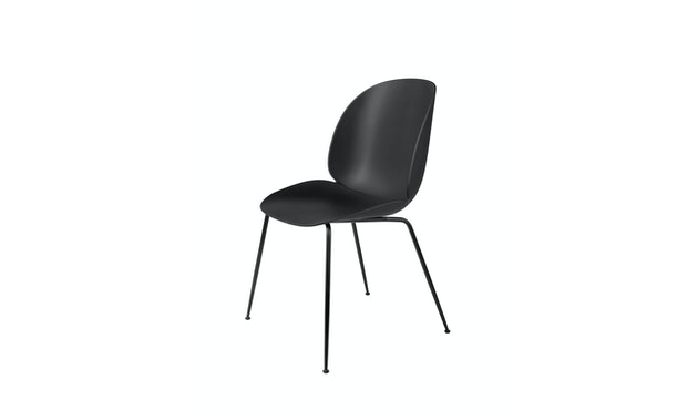 Gubi - Beetle Dining Stuhl - Gestell schwarz - schwarz - 1