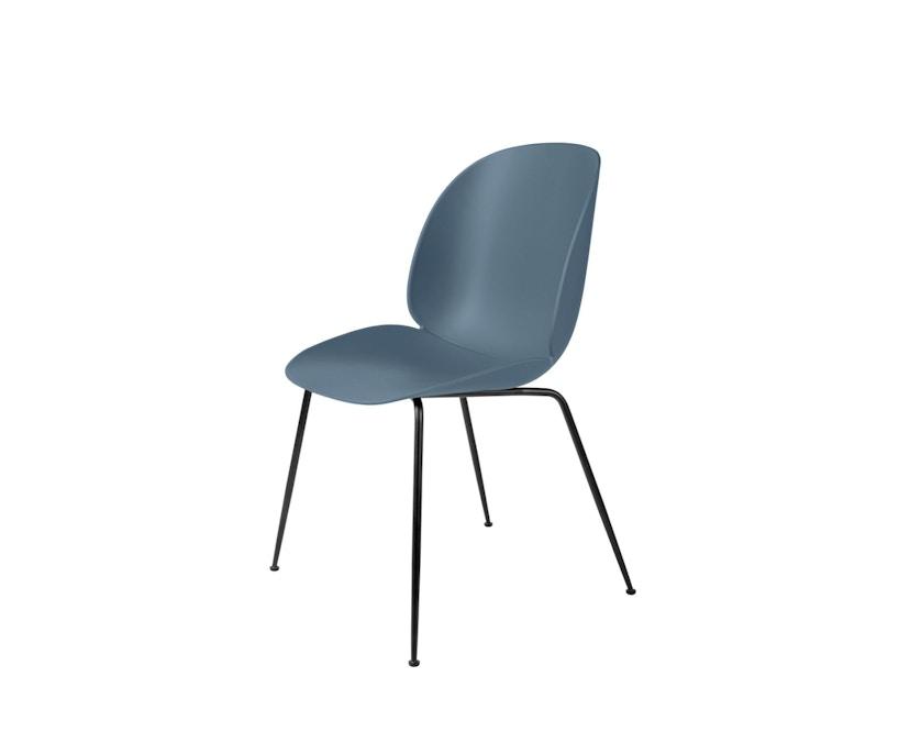 Gubi - Beetle Dining Stuhl - Gestell schwarz - blau grau - 2