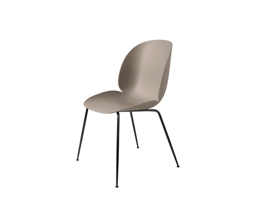 Gubi - Beetle Dining Stuhl - Gestell schwarz - beige - 1
