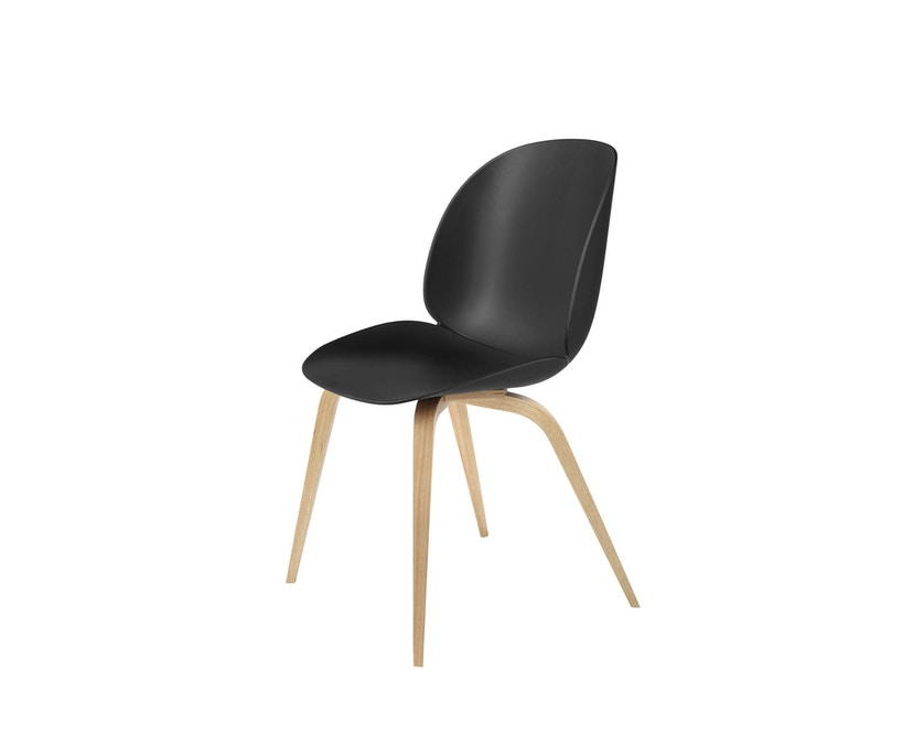 Gubi - Beetle Dining stoel - zwart - frame eik natuur - 1