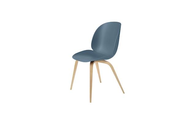 Gubi - Beetle Dining stoel - blauw grijs - frame eik natuur - 1