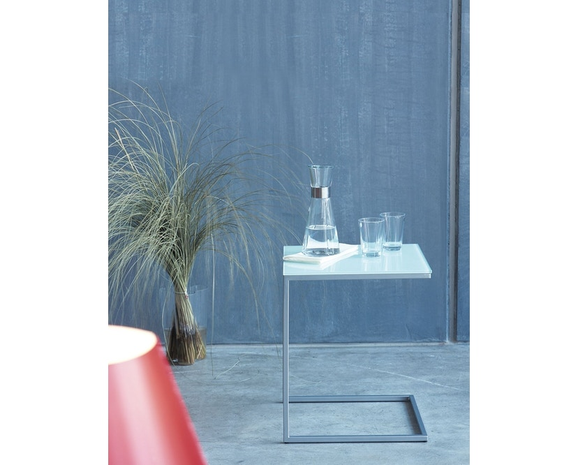 Jan Kurtz - Beistelltisch Classico - mocca/silber - 40x48x40 cm - 3