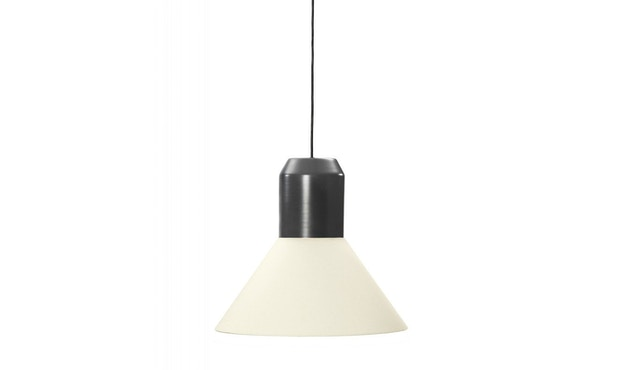 Classicon - Bell Light - Fassung: Anthrazitgrau - Lampenschirm: Weiß, 32cm Ø - 1