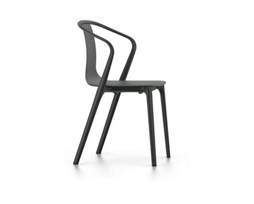 Vitra - Belleville Chair mit Armlehnen - basalt - 1