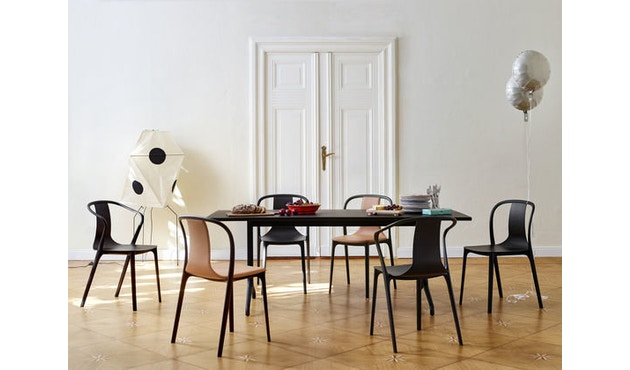 Vitra - Belleville Chair mit Armlehnen - creme - 5