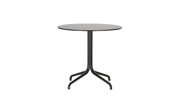 Vitra - Belleville Bistro Table outdoor Ø79,6 cm - Vollkernmaterial schwarz - 4