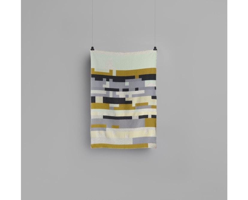 Roros Tweed - Bergstaden Decke - olive-mint - 2