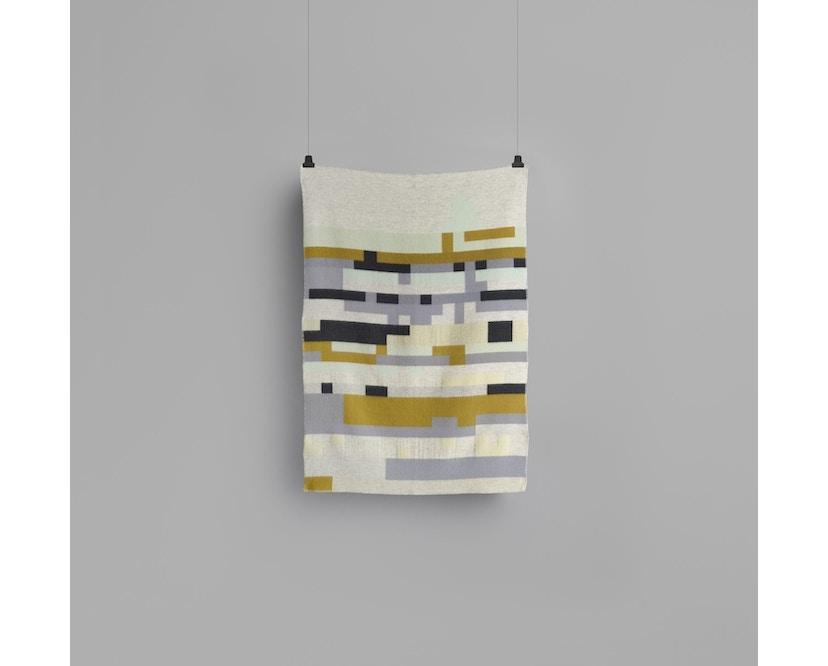 Roros Tweed - Bergstaden Decke - olive-mint - 3