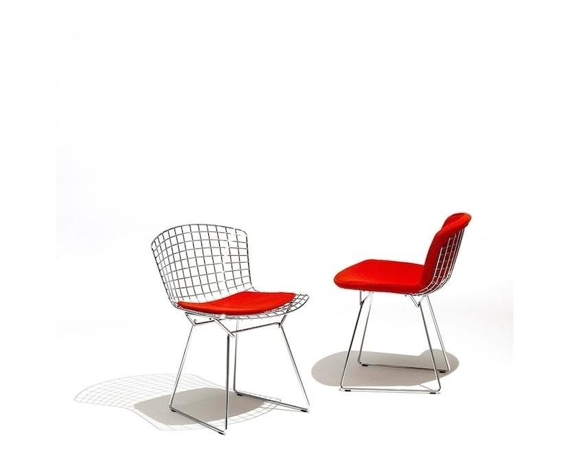 Knoll International - Bertoia Side Stuhl - sandgrau - Gestell Chrom glänzend -  gepolstert - 2