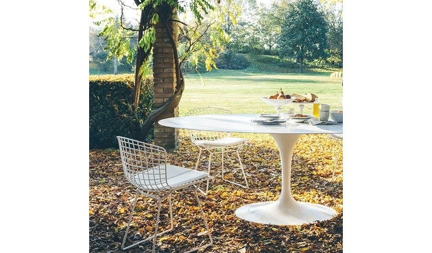 Knoll International - Bertoia Side Stuhl - Chrom glänzend - Vinyl orange - 3
