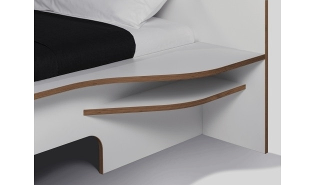 Müller Möbelwerkstätten - Plane Doppelbett - CPL weiß - 140 x 200 - ohne Bettkasten - 3