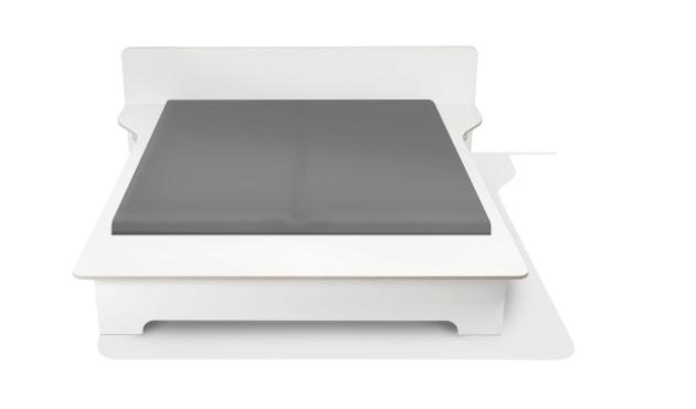 Müller Möbelwerkstätten - Plane Doppelbett - CPL weiß - 140 x 200 - ohne Bettkasten - 2