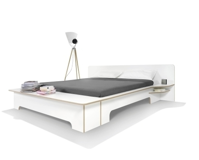 Müller Möbelwerkstätten - Plane Doppelbett - CPL weiß - 180 x 200 - mit Bettkasten - 5