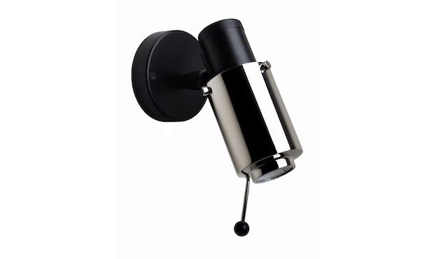 DCW éditions - BINY SPOT Stick Wandleuchte - schwarz/nickel - ohne Schalter - 1