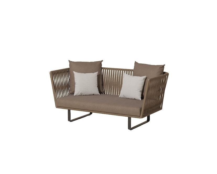 Kettal - Bitta 2-Sitzer Sofa - mangangrau - Bezug beige (wasserfest) - Bespannung rotbraun/braun - 1