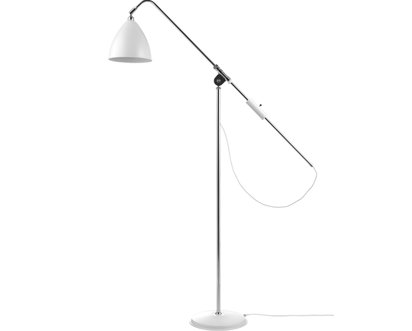 Gubi - BL3 vloerlamp - mat wit/ chroom - 1