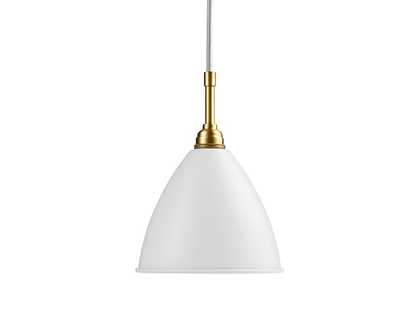 Gubi - BL9 S Hängeleuchte - matt weiß/messing - 1