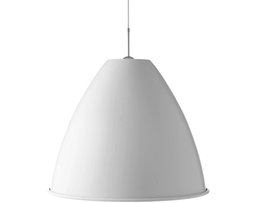 Gubi - BL9 XL Hängeleuchte - matt weiß/chrom - 1