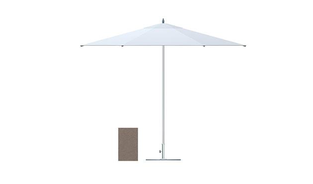 Tuuci - Bay master aluminium Klassik Sonnenschirm   - taupe - 2,6 m sechseckig - 2
