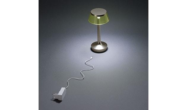 Flos - Bon Jour Unplugged Tischleuchte - weiß - Krone transparent - 5