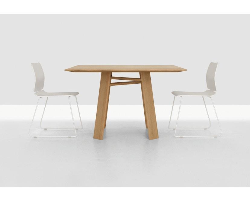 Zeitraum - Bondt Tisch - quadratisch - Eiche massiv - 100 x 100 cm - 2
